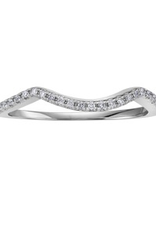 10K White Gold (0.08ct) Diamond Pavee Matching Wedding Band