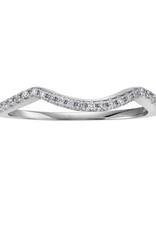 10K White Gold (0.08ct) Pavee Set Diamond Matching Wedding Band