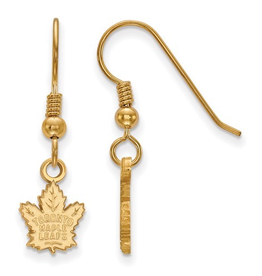 NHL Licensed NHL Licensed Maple Leafs Sterling Silver Gold Plated Dangle Earrings