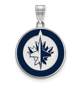 NHL Licensed NHL Licensed (Large) Winnipeg Jets Sterling Silver Enamel Pendant