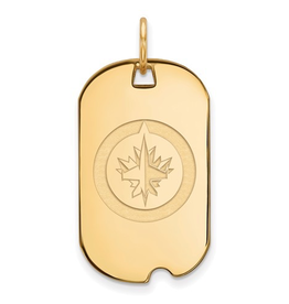 NHL Licensed Winnipeg Jets Dog Tag (Gold Plated)