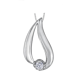 Canadian Diamond Tear Drop Pendant