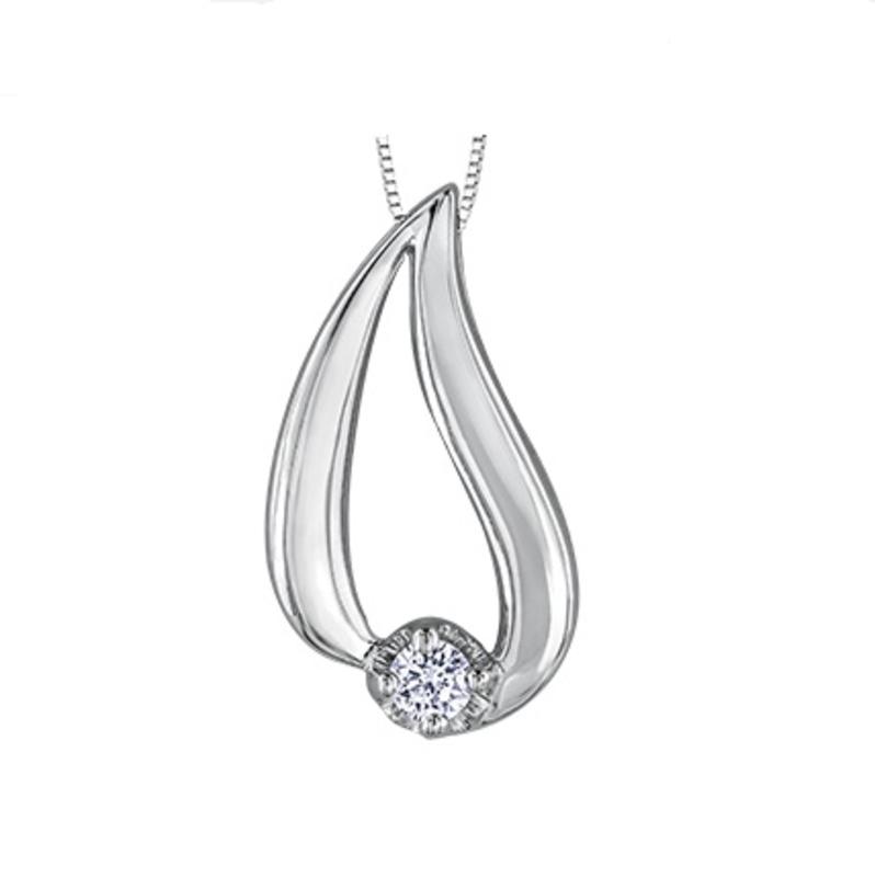 Canadian Diamond Tear Drop Pendant