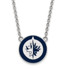 NHL Licensed Winnipeg Jets Enamel Necklace