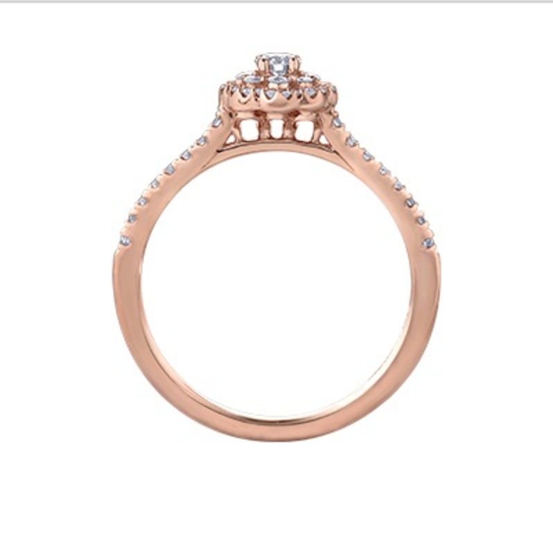 Maple Leaf Diamonds Pink Passion (0.33ct) Maple Leaf Canadian Diamond Rose Gold Engagement  Ring