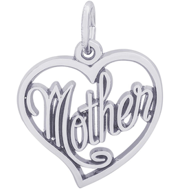 Nuco Nuco Mother Open Heart Charm Sterling Silver Charm Pendant