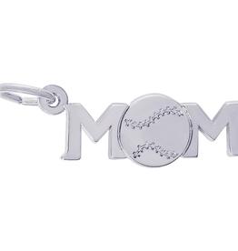 Nuco Nuco Mom Baseball Sterling Silver Charm Pendant
