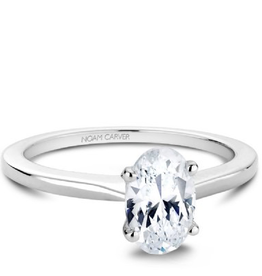 Noam Carver Noam Carver White Gold Oval Solitaire Mount