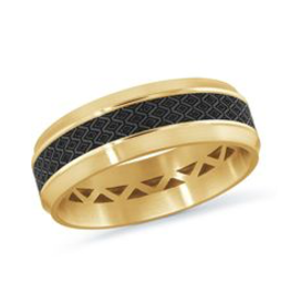 Mardini Mardini Carbon Fiber & Yellow Gold Mens 14K Band