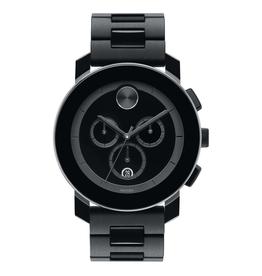 Movado Bold Chronograph Black Dial with Black Bracelet