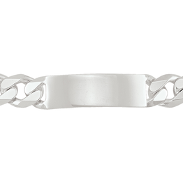 Sterling Silver 13mm Curb ID Bracelet 8.5""