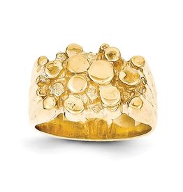 Yellow Gold Men's Nugget Ring