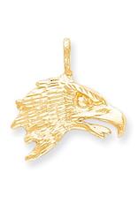 Yellow Gold Eagle Head Pendant