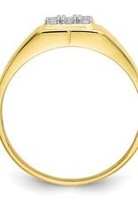 10K Yellow Gold Mens CZ Ring