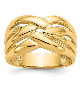 High Polished Woven Dome Ring
