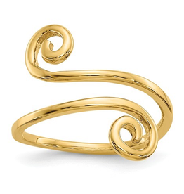 Yellow Gold Swirl Toe Ring