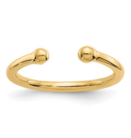 Yellow Gold Bead Toe Ring