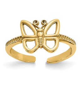Yellow Gold Butterfly Toe Ring
