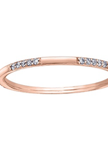 Rose Gold (0.10ct) Diamond Stackable Band