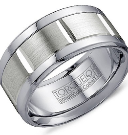 Torque White Cobalt Edges and Sterling Silver Inlay