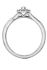 10K White Gold (0.20ct) Marquise Shaped Diamond Halo Engagement Ring