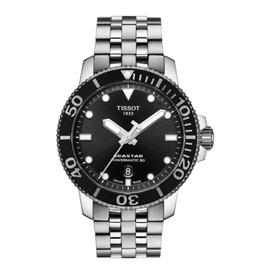 Tissot Tissot Seastar 1000 Powermatic 80 Men's Silver Tone Black Dial  Watch
