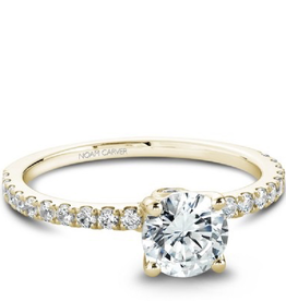 Yellow Gold Diamond Mount (0.34ct)