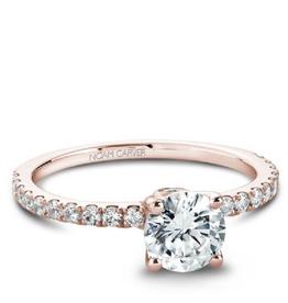 Noam Carver Rose Gold Diamond Mount (0.34ct)