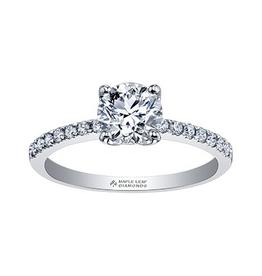 Maple Leaf Diamonds 18K White Gold Canadian Maple Leaf Diamond Ring (0.47ct)