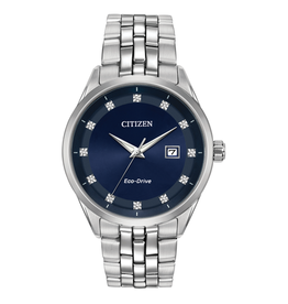 Citizen Citizen Corso Blue Dial with Diamonds Eco Drive Mens Watch