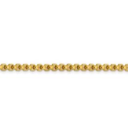 "10K Yellow Gold Semi Solid 3.6mm Round Box Chain  20"""