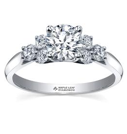 Maple Leaf Diamonds 18K Palladium White Gold Maple Leaf (1.00ct) Canadian Diamond Engagement Ring