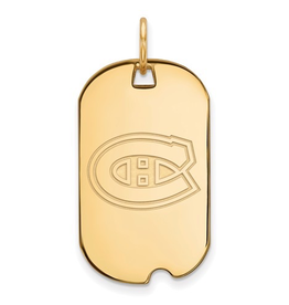 NHL Licensed Montreal Canadiens Dog Tag Sterling Silver GP