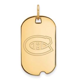 NHL Licensed NHL Licensed Montreal Canadiens Dog Tag Sterling Silver GP