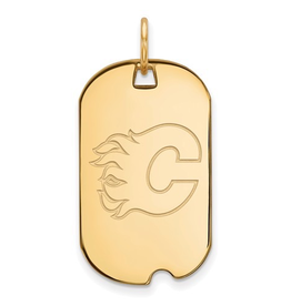 NHL Licensed NHL Licensed Calgary Flames Sterling Silver GP Dog Tag