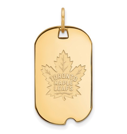 NHL Licensed NHL Licensed Maple Leafs Dog Tag Sterling SIlver Gold Plated