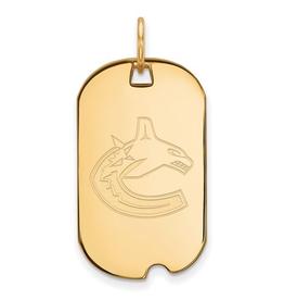 NHL Licensed NHL Licensed Vancouver Canucks Sterling Silver GP Dog Tag