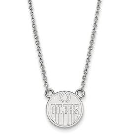 NHL Licensed Licensed Edmonton Oilers Sterling Silver Necklace