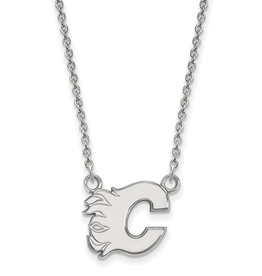 NHL Licensed Calgary Flames Sterling Silver Necklace