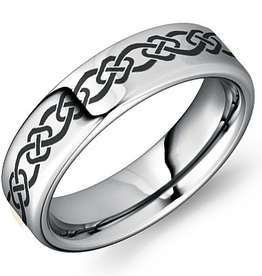 Torque Tungsten Carbide (6mm) with Celtic Design Band