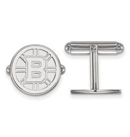 NHL Licensed Boston Bruins Sterling Silver Cuff Links