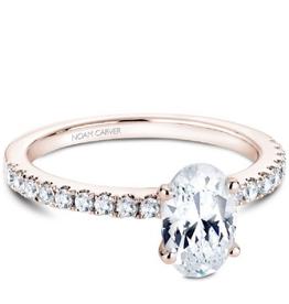 Noam Carver Rose Gold Oval Diamond Mount