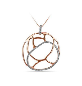 Asymetrical Round Diamond Pendant