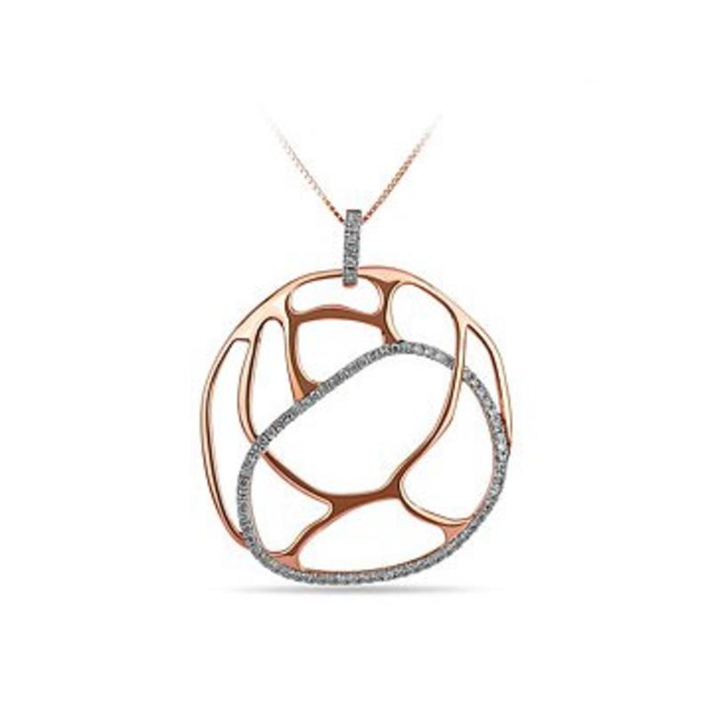 Asymetrical Round Diamond Pendant