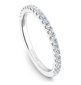 14K White Gold Diamond Matching Band to B101-01A