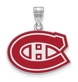 NHL Licensed Montreal Canadiens Enamel (18mm) Sterling Silver
