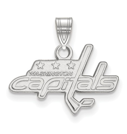 NHL Licensed NHL Licensed (Small) Washington Capitals Sterling Silver Pendant