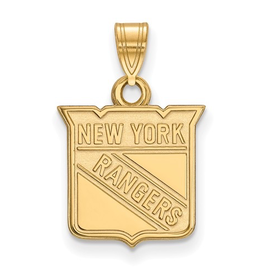 NHL Licensed New York Rangers Pendant 10K Yellow Gold (13mm)