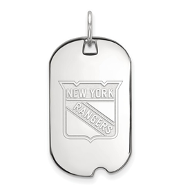 NHL Licensed New York Rangers Dog Tag Sterling Silver