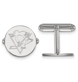 NHL Licensed Pittsburgh Penguins Cuff Links Sterling Silver